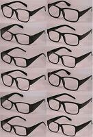 Reading Glasses[+2.25] 100 Black Plastic Frame Wholesale Lot Reader Unisex 2.25