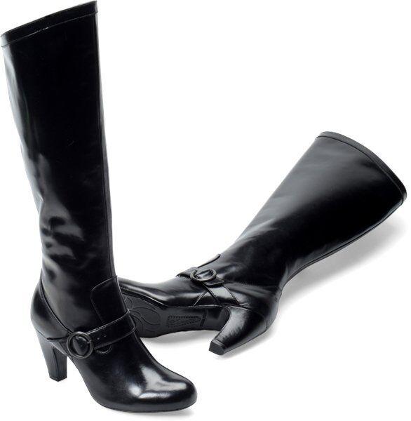 Women's Born Crown Fancy Boot Karmen Black Leather N15603