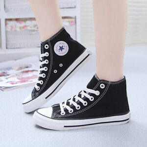 Fashion Women's High Top Canvas Shoes Classic Casual Comforts Running Sneakers