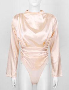 1 Garment Silky Womens//Ladies Dance Seamless Low Back Leotard