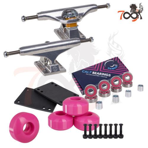 Independent 144 Skateboard Trucks Combo Abec 7 Bearing 52mm Pink Wheels