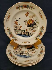 SET-OF-2-WEDGWOOD-GEORGETOWN-COLLECTION-LOTUS-10-25-034-DINNER-PLATES-VERY-FINE