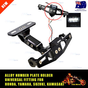 Image is loading Motorcycle-Alloy-Tail-Tidy-Number-Plate-Indicator-Holder-  sc 1 st  eBay & Motorcycle Alloy Tail Tidy Number Plate Indicator Holder Mount ...