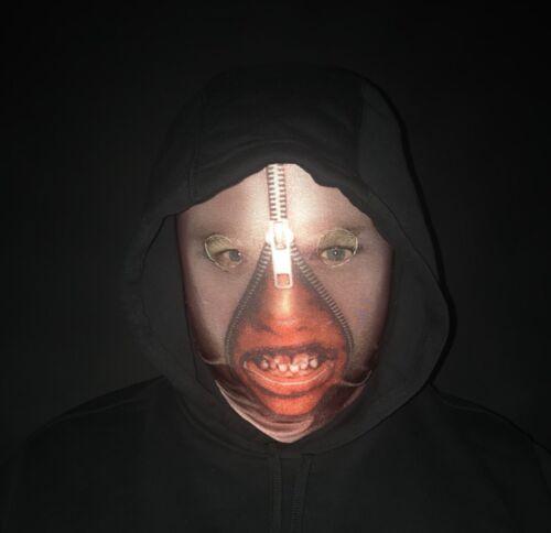 Zip Face Scary halloween mask lycra printed face mask slenderman