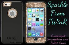 Glitter Customized Otterbox Defender Case For iPhone 6 Plus Black/Gold