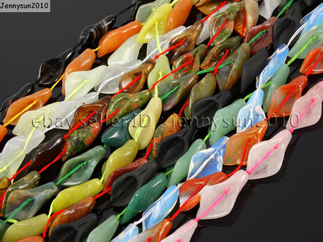Natural Gemstones Carved Calla Lily Flower Loose Spacer Beads Jewelry Design