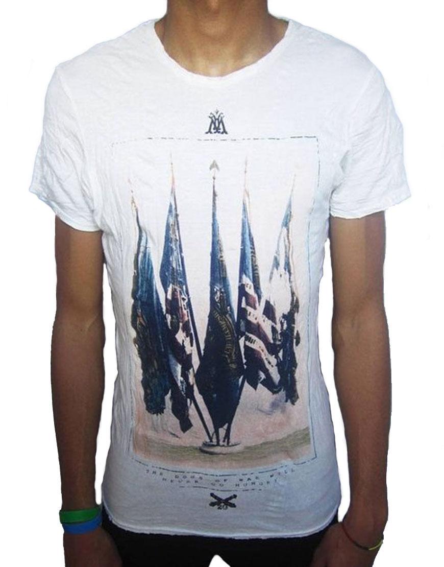 Pearly King Uomo DEMOCRACY T-Shirt Ossa (PKTS039)