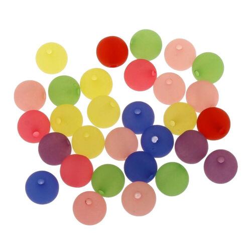 Gefrostete kunststofperlen 10mm Mix aproximadamente 150stk acrílico perlas multicolor cubierta de hielo d114