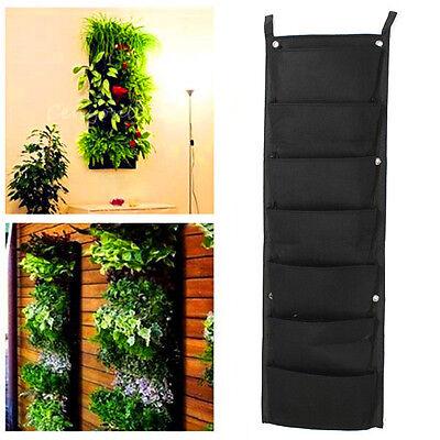 7-Pocket Indoor Outdoor Wall Balcony Herbs Vertical Garden Hanging Planter Bag