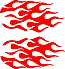 """Flame Vinyl Decals Motorcycle, Car Stickers (11"""" x 5"""")"""