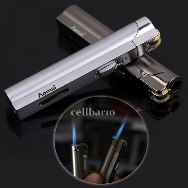 Cylinder Flint Wheel Windproof Jet Flame Cigarette Cigar Butane Gas Lighter