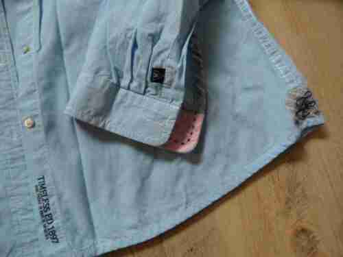 Bluse Kleinkarierte Schöne Weiß Bi717 Gaastra Neuw Hellblau L Gr qzTSxv6w4