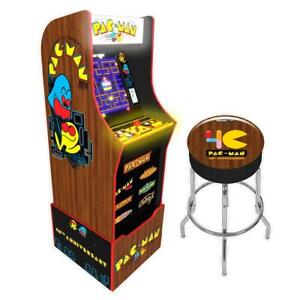 Arcade-1up-Pacman-Special-Edition-Arcade1up-Retro-Stool-Combo-Light-Up-Marquee
