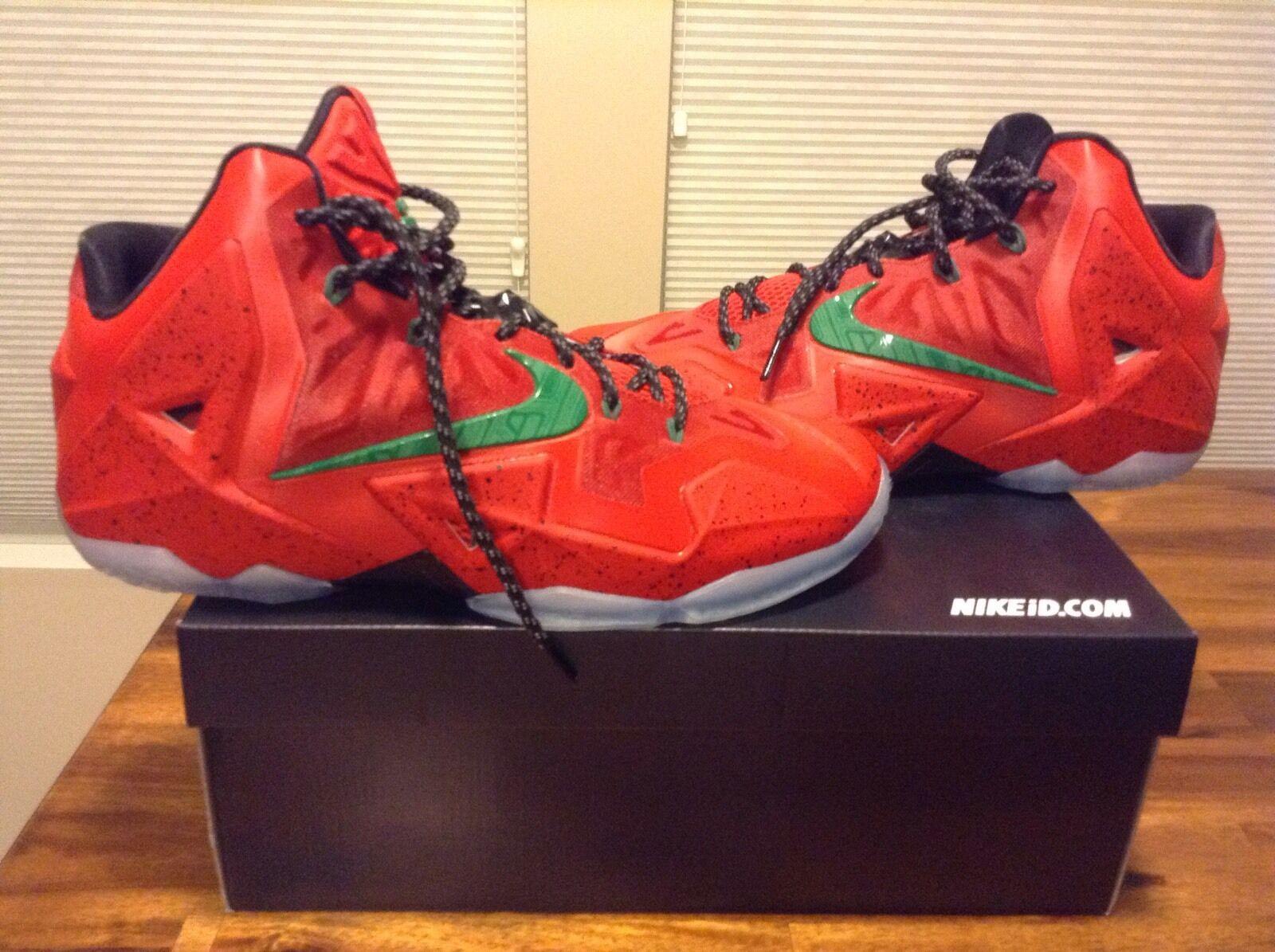 beb7cd6668ed Nike Lebron 11 11 11 NikeID Custom Shoes Sz 12 8105c8 - work.hilltop ...