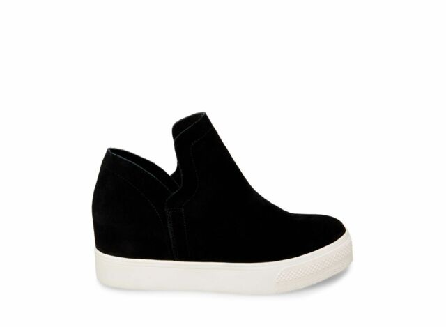 f0f15976f96 Steve Madden Women's Wrangle Hidden Wedge Sneaker - Black Suede