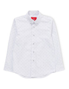 NEW-Fred-Bracks-White-Ground-Navy-Print-LS-Shirt
