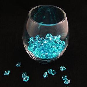 150pc-Acrylic-Crystal-Ice-Rock-Stones-Aquarium-Vase-Gems-Table-Decor-Water-Blue