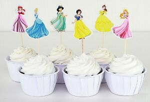 Image Is Loading Disney Princess Cupcake Toppers Food Picks Party Decorating