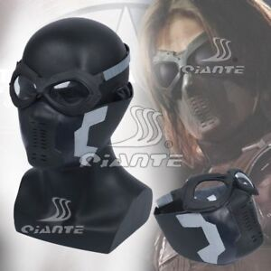 Details about Avengers The Winter Soldier Bucky Mask Half-face Mask Eye  Mask Captain America