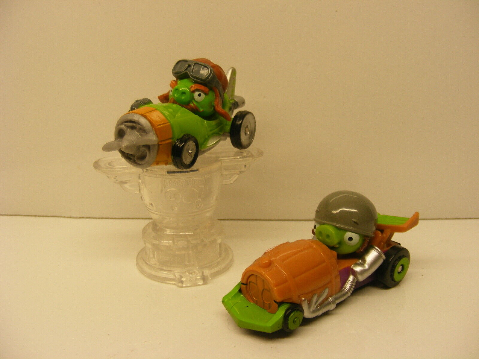 Angry Birds Go Telepods KART RACERS Lot Of 2 Cars QR Codes with 1 Magnifier
