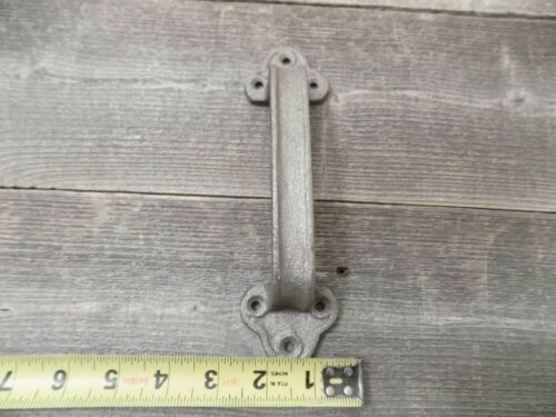 4 Cast Iron Handles Door Hardware Pull Gate Shed Drawer Cabinet Barn Shed Gate
