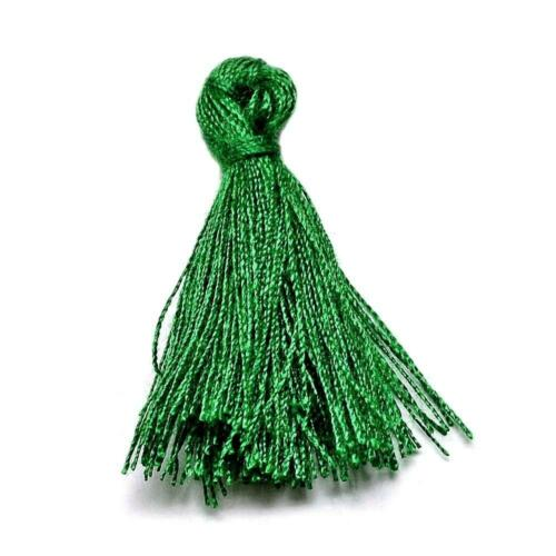 Pack 10 x Green 3cm Cotton Tassels For Sewing Cardmaking /& Crafts Sewing Crafts