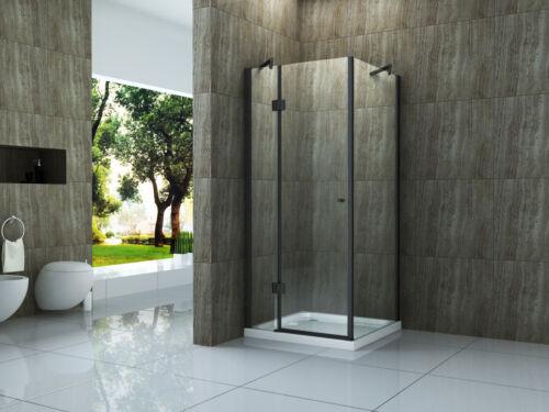 Duschkabine ARTO Glas Dusche Duschwand Duschabtrennung Duschtür schwarz