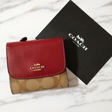the latest 74ab7 6e46a Coach Signature PVC Small Wallet F87589 No Tag for sale ...