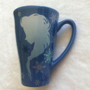 Disney Store Frozen ELSA ANNA Keep Calm and Let It Go Blue TALL Coffee Tea Mug