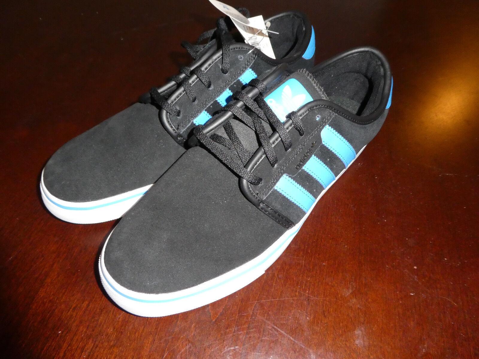 Adidas 10 Seeley mens shoes size 10 Adidas black blue new sneakers e88ebf