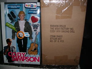 CODY SIMPSON 12IN SINGING DOLL (WHOLESALE LOT OF 6)