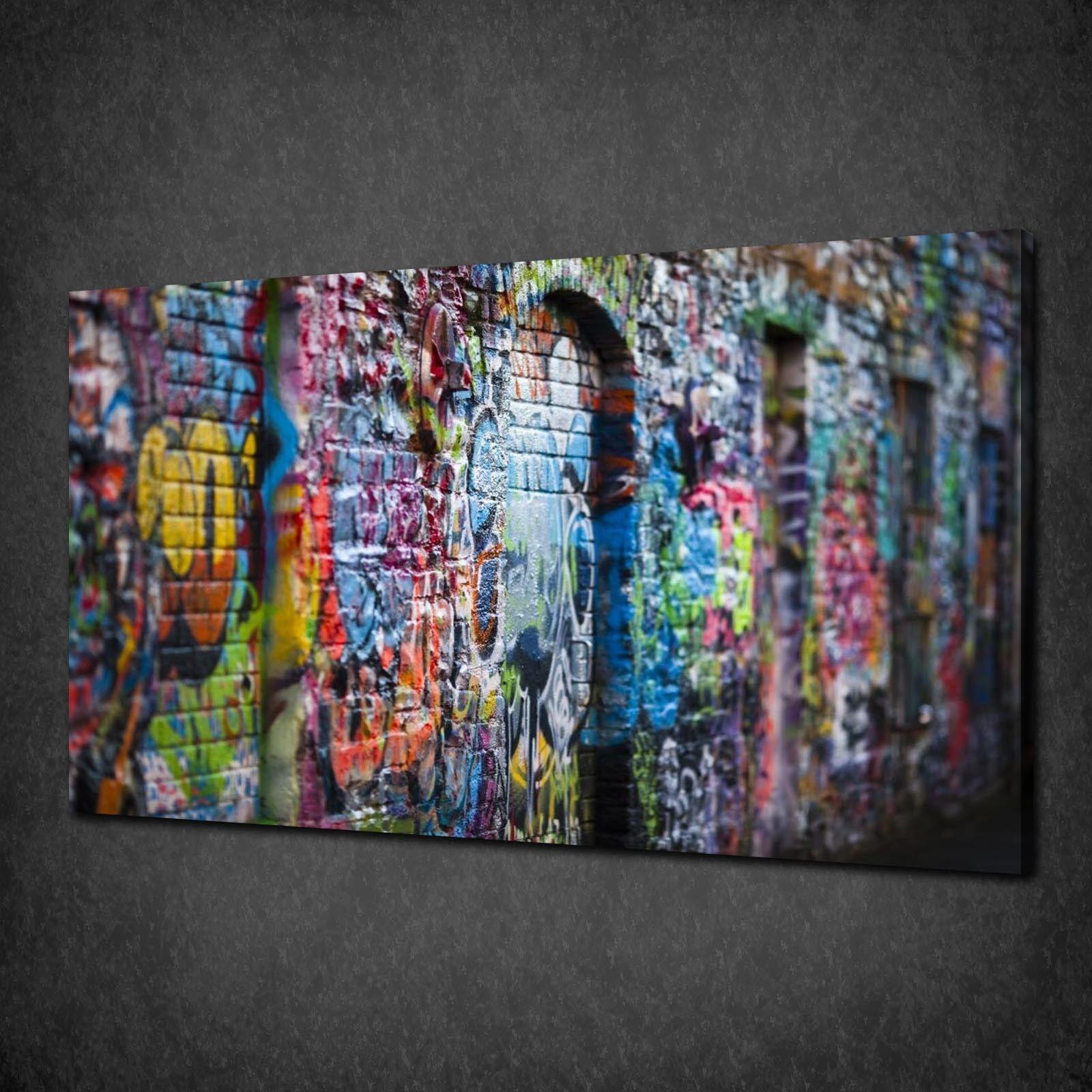 Graffiti Photo sur toile Imprimer Wall Hanging Art Home Decor livraison gratuite