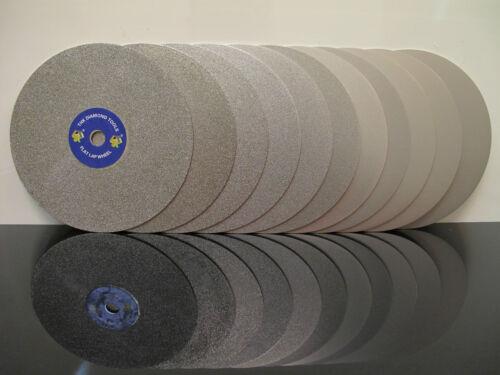 """8/"""" Pouces Grit 80 Diamond Coated Flat Lap roue lapidaire Ponçage Polissage Disque"""