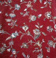 Western Textile Westgard Home Decor Floral Design Gold Accents Cotton Fabric