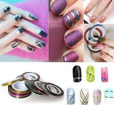 10Pcs Line Rolls Nail Art Stickers Decoration Mixed Color Striping Tape