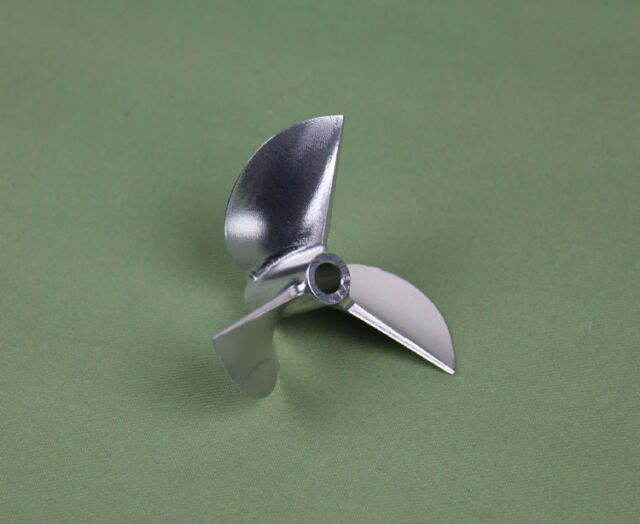"""Rc Propeller CNC Machined 3 blades Alloy 6717 For 6.35mm 1/4"""" Prop Shaft Rc Boat"""