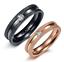 Anelli-Anello-Coppia-Fedi-Fede-Fedine-Fidanzamento-Nuziali-Cristallo-Acciaio-Oro miniatura 1