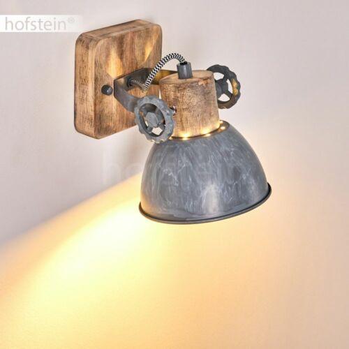 Holz//grau Flur Wohn Schlaf Zimmer Leuchte Vintage Wand Decken Lampe verstellbar