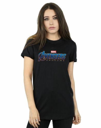 Marvel Women/'s Avengers Endgame Logo Boyfriend Fit T-Shirt