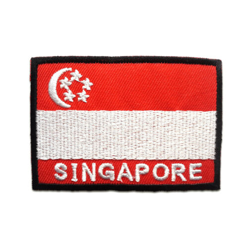 4,8x7cm Application badges red Singapore flag banner Iron on patches