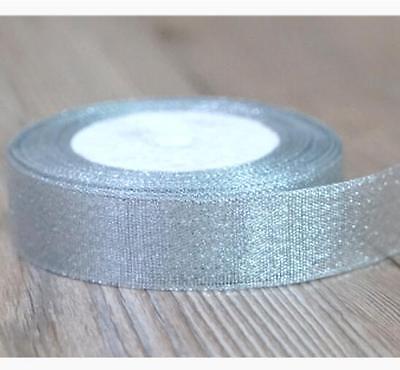 25 yards (25mm) Glittering Gold Christmas Ribbon Cake Package Grosgrain Ribbon