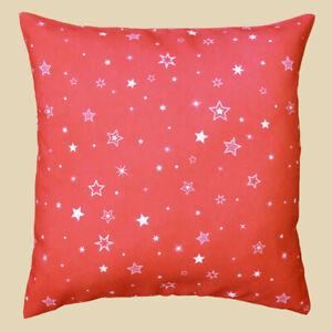 Kissenhülle rot 40 x 40 Hülle Kissen Weihnachten Weihnachtsstern Stern Advent