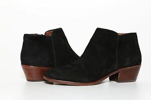 2f6d57cd2 Sam Edelman Women s Black Suede Leather Upper Petty Ankle Bootie ...