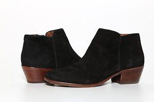 2f6d57cd2 Sam Edelman Women s Black Suede Leather Upper Petty Ankle Bootie ...