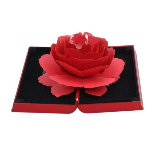 Wedding Ring Box Case New Anniversary Gifts Rose Creative Storage Jewelry Boxes