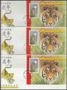 TOKELAU 1998 CHINESE NEW YEAR (YEAR OF TIGER) M/S FDC's ...