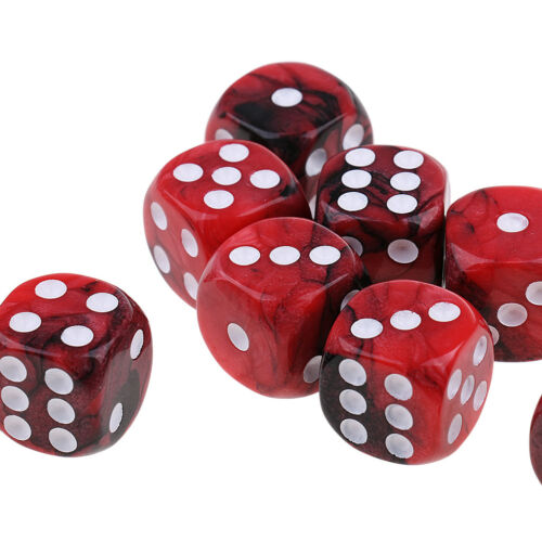 10x D6 Six Sided Table Game Dice 16mm for MTG DND TRPG Gaming Dice Fun Toys