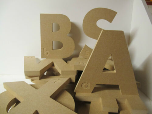 WOODEN ALPHABET EDUCATIONAL LETTERS 18mm Thick Freestanding