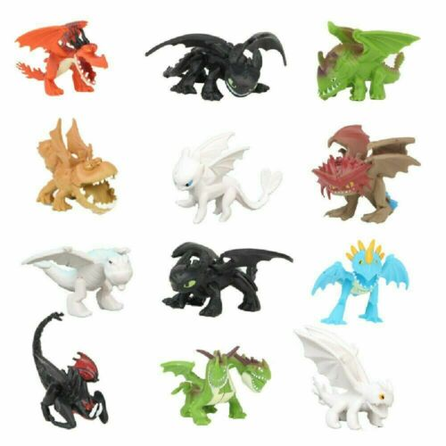 12x How To Train Your Dragon Light Night Fury Toothless Action Figure Doll Gifts