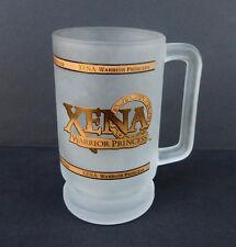Rare 1997 Xena Warrior Princess16 oz Frosted Glass, Mug, Stein, Beer / MCA TV